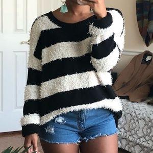 AEO | Oversized Vintage Boyfriend Striped Sweater